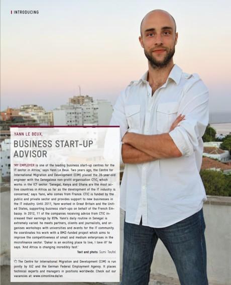 Article on the GIZ Magazine